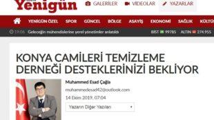 Konya Yenigün Gazetesinde Derneğimiz hakkında bir Köşe Yazısı