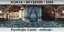 KONYA • BEYŞEHİR Eşrefoğlu Camii –mihrab–